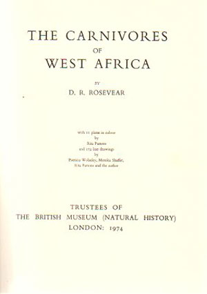 The carnivores of West Africa.