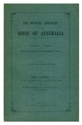The official checklist of the birds of Australia. H. Wolstenholme