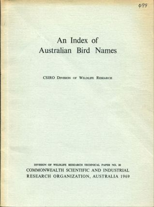 An index of Australian bird names. CSIRO