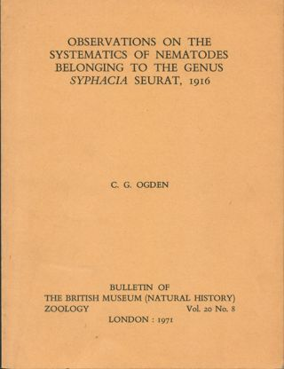 Observations on the systematics of nematodes belonging to the genus Syphacia Seurat, 1916. Colin...