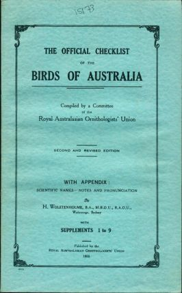 The official checklist of the birds of Australia [with supplements]. H. Wolstenholme