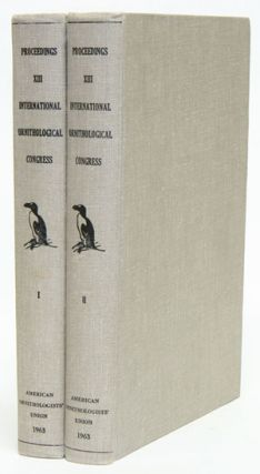 Proceedings thirteenth International Ornithological Congress: Ithaca, 17-24 June 1962. Charles...