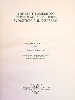 The South American herpetofauna: its origin, evolution, and dispersal.