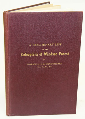 A preliminary list of the Coleoptera of Windsor Forest