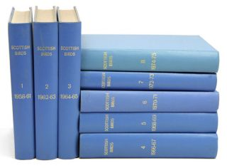 Scottish birds: the journal of the Scottish Ornithologists Club, volumes one to eight. M. F. M....