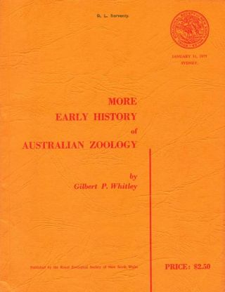 More early history of Australian zoology