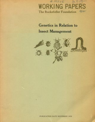 Genetics in relation to insect management