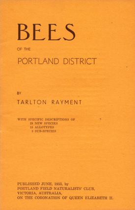 Bees of the Portland district. Tarlton Rayment