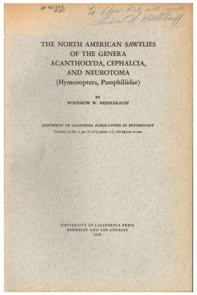 The North American sawflies of the genera Acantholyda, Cephalcia, and Neurotoma (Hymenoptera,...
