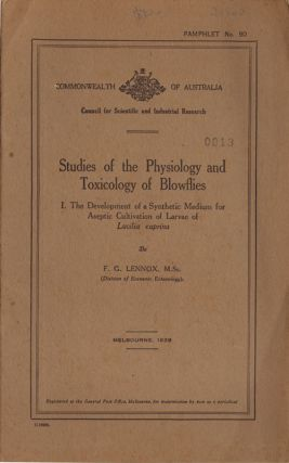 Studies of the physiology and toxicology of blowflies: 1. The development of a synthetic medium...