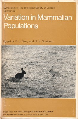 Variation in mammalian populations. R. J. Berry, H. N. Southern.