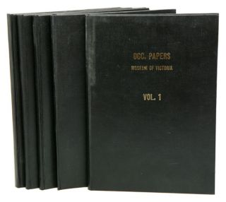 Occasional papers from the Museum of Victoria, five volumes. Gary C. B. Poore