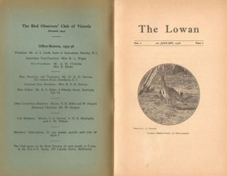 The Lowan, parts one and two [all published].