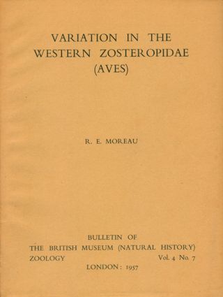 Variation in the western zosteropidae. R. E. Moreau