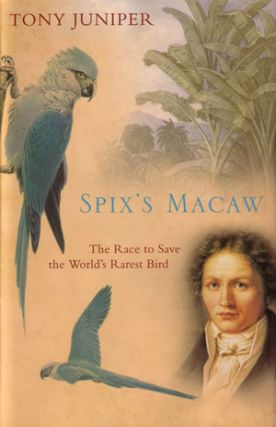 Spix's macaw: the race to save the world's rarest bird. Tony Juniper.