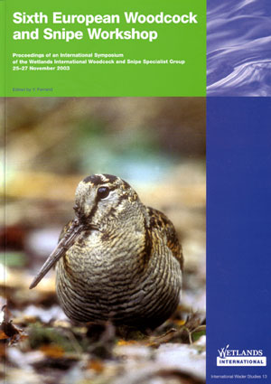 Sixth European woodcock and snipe workshop: proceedings of an international symposium of the Wetlands International Woodcock and Snipe Specialists Group Nantes, France 25-27 November 2003. Y. Ferrand.