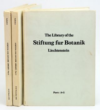 The magnificent botanical library of the Stiftung Fur Botanik Vaduz Liechtenstein collected by...