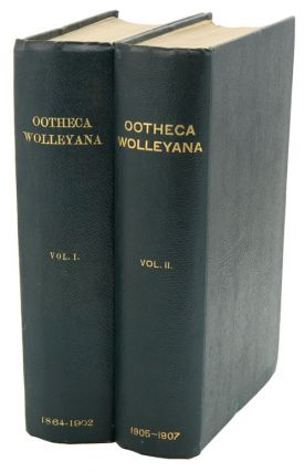 Ootheca Wolleyana: an illustrated catalogue of the collection of birds' eggs begun by the late...
