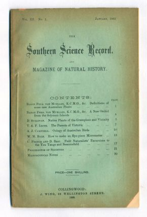 The Southern Science Record.