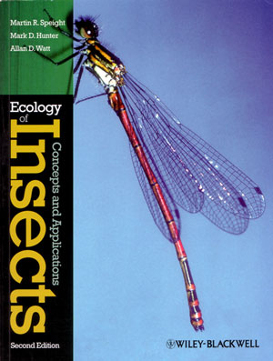 Ecology of insects: concepts and applications. Martin Speight