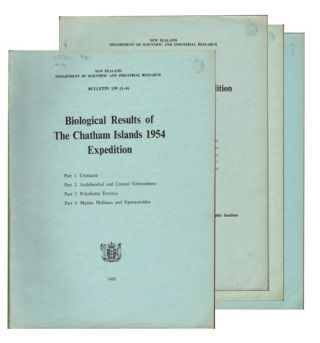Biological results of the Chatham Islands 1954 expedition, parts one to seven. New Zealand...