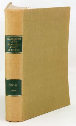 Transaction of the Zoological Society of London, volume 16.
