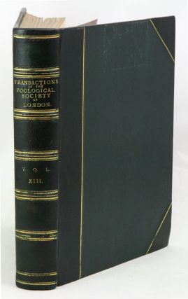 Transaction of the Zoological Society of London, volume 13.