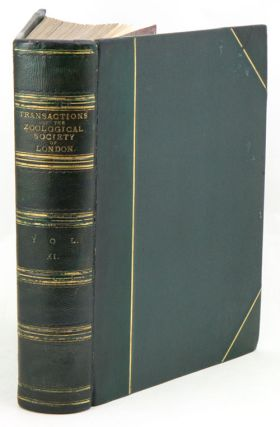 Transactions of the Zoological Society of London, volume eleven.