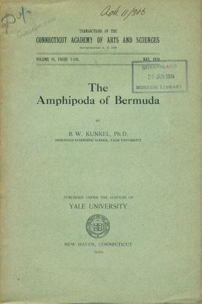 The Amphipoda of Bermuda. B. W. Kunkel