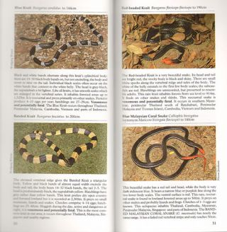 Photographic guide to snakes and other reptiles of Peninsular Malaysia, Singapore and Thailand.