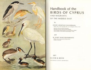 Handbook of the birds of Cyprus and migrants of the Middle East.