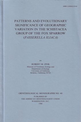 Patterns and evolutionary significance of geographic variation in the Schistacea group of the Fox...