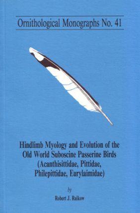 Hindlimb myology and evolution of Old World suboscine passerine birds (Acanthizidae, Pittadae,...