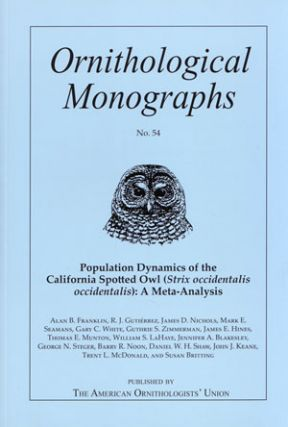 Population dynamics of the California spotted owl (Strix occidentalis occidentalis): a...