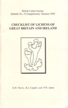 Checklist of lichens of Great Britain and Ireland. O. W. Purvis.