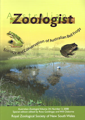 Ecology and conservation of Australian Bell frogs. R. Goldingay, W. Osborne.