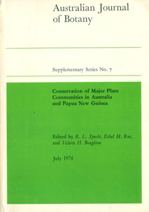Conservation of major plant communities in Australia and Papua New Guinea. R. L. Specht
