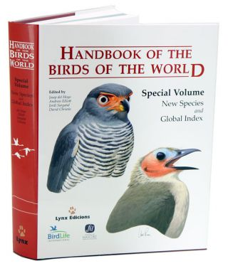 Handbook of the birds of the world [HBW], special volume: new species and global index. Josep del Hoyo, Jordi Sargatal, Andrew Elliott, David A. Christie.
