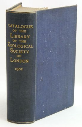 Catalogue of the Zoological Society of London. F. H. Waterhouse