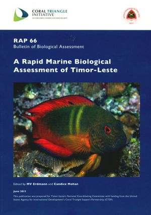 Rapid Marine Biological Assessment of Timor-Leste. M. V. Erdmann, Candice Mohan