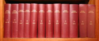 Animal behaviour monographs, volumes 1-24. J. M. Cullen, C. G. Beer