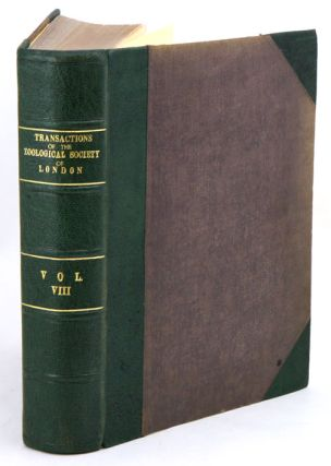 Transactions of the Zoological Society of London, volume eight