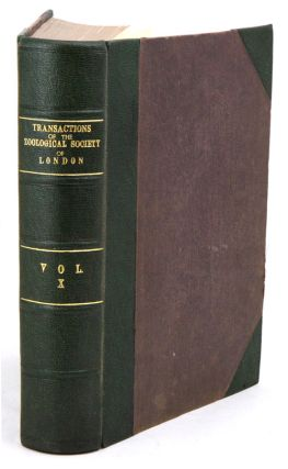 Transactions of the Zoological Society of London, volume ten