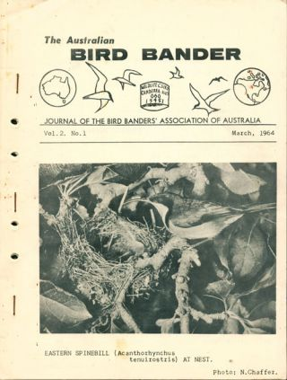 The Australian bird bander, volumes 1-14.