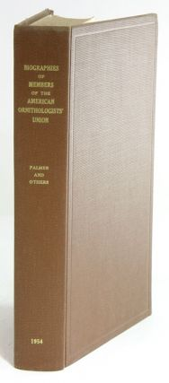 Biographies of members of the American Ornithologists' Union. T. S. Palmer.