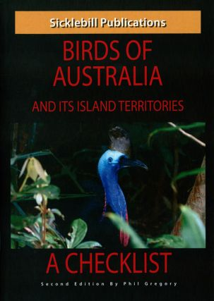 Birds of Australia and its island territories: a checklist. Phil Gregory.