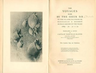 The voyages made by the Siuer D. B. to the islands Dauphine or Madagascar and Bourbon or Mascarene in the years 1669.70.71. and 72.