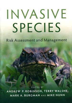Invasive species: risk assessment and management.