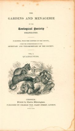 The gardens and menagerie of the Zoological Society delineated.