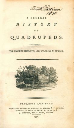 A general history of quadrupeds: the figures engraved on wood.